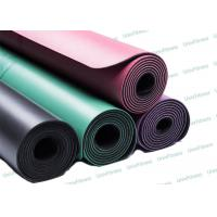 Buy cheap Eco Foldable Pure Fitness Yoga Mat / Gym Green Pu Yoga Mat Easy Clean from wholesalers