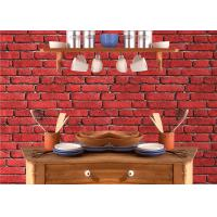 Buy cheap Vintage Removable 3D Brick Effect Wallpaper , Foam Faux Brick Wall Covering Washable from wholesalers