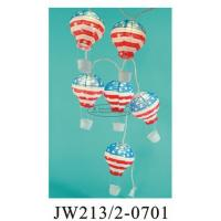 Buy cheap July 4th USA String Paper Balloon Lanterns , Floating Paper Lantern Balloons 13 X 22cm from wholesalers