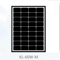 Buy cheap 60 Watt Mono Crystal Solar Panel 17.5V Power Voltage Black Roof Tiles For Home from wholesalers