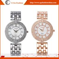 YQ10 Luxury Rose Gold Watch Silver Color Watches Girls Woman Stainless Steel Quartz Watch
