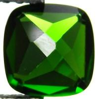 Buy cheap 7mm Natural Green Chrome Diopside Cushion For Gemstone Jewelry from wholesalers
