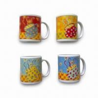 Buy cheap Decaled Stoneware Coffee Mugs with 12oz Capacity from wholesalers