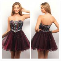 Buy cheap Fancy Beaded Corset Womens Cocktail Dresses , Ladies Modest Formal Dresses from wholesalers