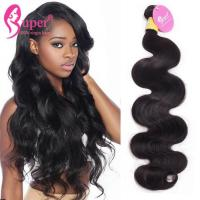 Buy cheap Super Double Drawn Best Natural Unprocessed Brazilian Virgin Hair Body Wave from wholesalers