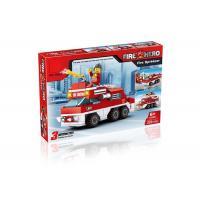 Mini Fire Rescue DIY Building Blocks Educational Toys Convertable 3 Styles 220Pcs