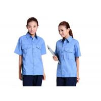 Buy cheap Polyester Fabric Industrial Work Uniforms Light Breathable , Custom Work Shirts from wholesalers