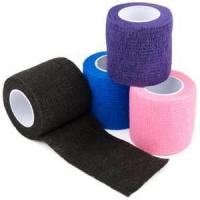 Buy cheap Water Resistant Hand Tear Cotton Self - adhesive Elastic Cohesive Flexible Bandage from wholesalers