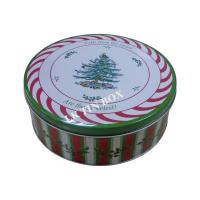 Buy cheap Custom Printed Christmas Holiday Cake Cookie Tin Box Gift Packaging from wholesalers
