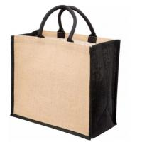 Buy cheap Hessian Burlap Promotional Shopping Bags , Plain Jute Beach Tote Bag from wholesalers