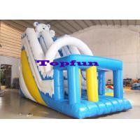 Buy cheap Jump Bounce Inflatable Kids Slide White Blue Combo With Sprayers Games Fun from wholesalers