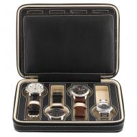Buy cheap 8 Grids Watch Display Box Faux Material Zippered Travel Watch Collector from wholesalers