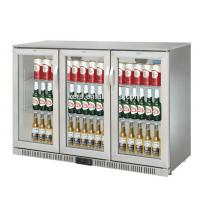 Buy cheap 850mm Height 320L Three Stainless Steel Doors Back Bar Cooler Auto Defrost Type With Easy Cleaning Gasket product