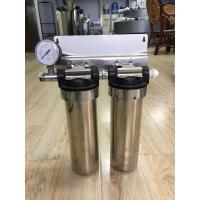 Buy cheap Two Stage Under Sink 10 Stainless Steel Water Filter Water Purifier With Pressure Gauge from wholesalers