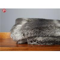 Buy cheap Gray chinchilla Animal Print Faux Fur Blanket Ostrich Exotic Throws Comforters Mink Backing from wholesalers