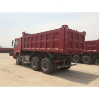 China Red Color 336hp Sinotruk Howo Dump Truck With 10 Wheels And 18m3 Capacity on sale