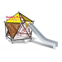 Buy cheap Commercial Children'S Playrope Play Equipment  By Big Stainless Steel Slide Single Square Type from wholesalers