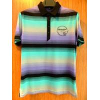 Buy cheap Mens double mercerized cotton stripe polo shirts from wholesalers