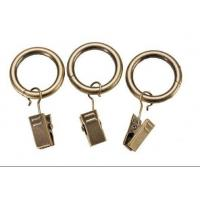Buy cheap Iron curtain pole rings with clips from wholesalers