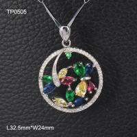 Buy cheap OLF Vintage 925 Sterling Silver color quartz dragonfly butterfly flower Pendant from wholesalers
