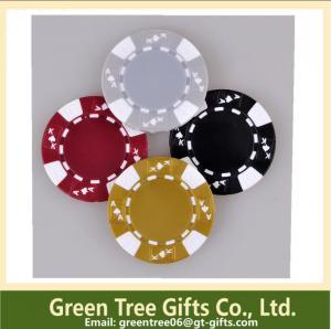 China 3-tone Poker Chips,crown poker chip custom aluminium poker chip set casino clay pokerchips on sale