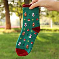 Buy cheap 2015 hot selling women's soft summer cotton socks in cartoon christmas design from wholesalers