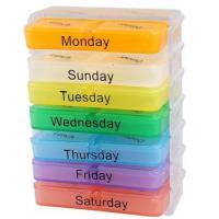 Buy cheap Accorted Color 28 Compartments Weekly Sorter Medicine Pill from wholesalers