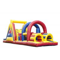 Buy cheap Outdoor Games Obstacle Course Jump House , Moon Bouncy Obstacle Course Rental from wholesalers