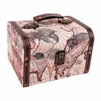 Buy cheap Vintage World Map Treasure Chest Decorative Wood Jewelry Boxes for Traveling from wholesalers