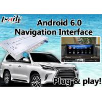 Buy cheap Android 6.0 Video Interface GPS Navigator for Lexus LX 2016-2018 With Mouse and Steering Wheel Control WIFI LX570 from wholesalers