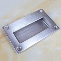 China Large size125x83mm stainless steel flush hidden door pull handle on sale
