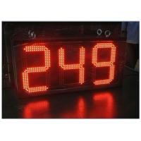 Buy cheap Digital Clock Remote Tri Color LED Gas Station Sign Ultra Thin High Brightness from wholesalers