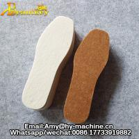 Buy cheap Hot sell warm shoe insole material wool felt fabric custom printed shoes insole pad for snow boots from wholesalers