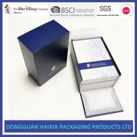 Buy cheap Blue And White Rigid Gift Boxes Light Weight Packaging Boxes For Cosmetics from wholesalers