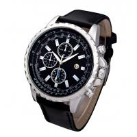Buy cheap Water Resistance Men Leather Band Quartz Watch Stainless Steel Case from wholesalers