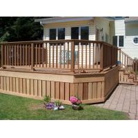 Buy cheap Wpc cladding grooved strip/WPC patio/wood plastic composite cladding from wholesalers