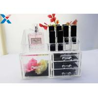 Buy cheap Rectangle Acrylic Makeup Drawer Organizer / Acrylic Cosmetic Organiser ROHS Approved product