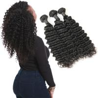 Buy cheap Real 9A 20 Inch Deep Wave Curly Hair Extensions 3 Bundles Prevent Shedding from wholesalers