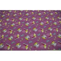 Buy cheap Light Purple Pu Artificial Leather Pink Pig Pattern 54 Width With 0.4mm Thickness from wholesalers