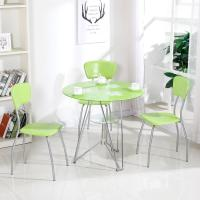 Buy cheap Modern Glass Top Dining Room Table , Colorful Glass Top Dining Table And Chairs from wholesalers