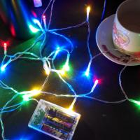 Buy cheap 2M 20LED 3*AA battery operated christmas lights LED string lights more color good material product