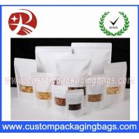 Buy cheap White Kraft Paper Stand Up Pouches For Food Packaging / Resealable Zipper Bag from wholesalers