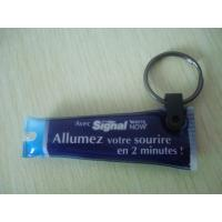 China Environmental Custom Rubber Keychains , Small Led Flashlight Keychain on sale