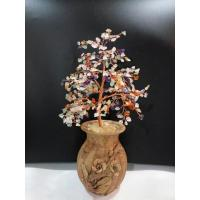 Buy cheap Beaded Wire Indoor Bonsai Tree Sculpture Rose Quartz Gemstone Tree For Family from wholesalers