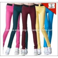 Buy cheap Elastic Waist Candy Color Slim Multicolour Pencil Pants Legging Brand Jeans from wholesalers