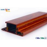 Buy cheap Wood Grain Surface AA6063 T5 Aluminium Extrusions Profiles For Door / Windows from wholesalers