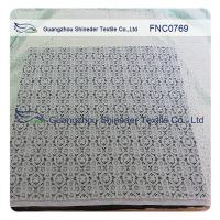 Buy cheap ±150CM Charming Nylon Cotton Lace Fabric AZO Free Dyeing 76.5% Nylon + 23.5% Cotton from wholesalers
