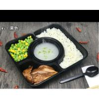Buy cheap 4-department takeaways food tray Rectangular Disposable Food Trays with soup cups product