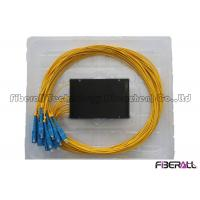Buy cheap 1x16 ABS Box PLC Splitter , FTTH Optical Fiber Splitter With SC Fiber Optic Connector from wholesalers