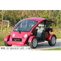 Mini Small Two Seater Golf Cart , Safty 4 Wheel Golf Cart With Vacuum Tire